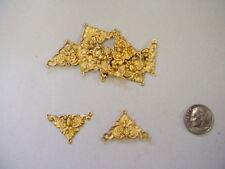 "Raw Brass Decorative ""Corner"" Jewelry Stampings 1 dozen"
