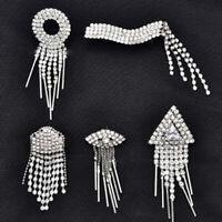 DIY Rhinestone Trim Crystal Chain Beaded Applique Sew Wedding Bridal Dress Party