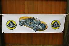 lotus elise s1 s2  large pvc  WORK SHOP BANNER garage  SHOW BANNER