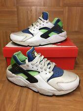 RARE🔥 Nike Air Huarache White Scream Green Black Sz 12 Men's Shoes 318429-100