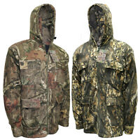 Mens Forest Fleece Camo Jacket Hood Fishing Hunting Coat Hiking Shooting Safari
