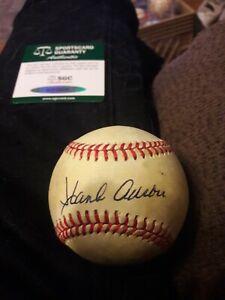 Braves Hank Aaron Signed National League Giamatti Baseball SGC COA