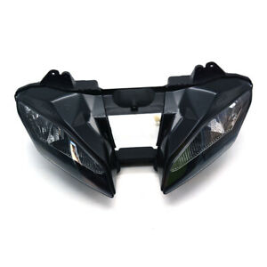Front Headlight Assembly Clear Lamp For YZF6 YZF R6 2008-2012 2010 2011 Black
