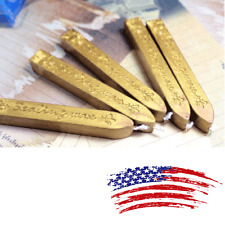 5Pcs Vintage Gold Manuscript Sealing Seal Wax Sticks Wicks For Postage Letter US
