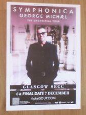 George Michael live music memorabilia Glasgow dec.2011 show concert gig poster