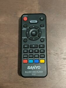 SANYO Remote NC097 - Blu-Ray Disc Player Remote - TESTED