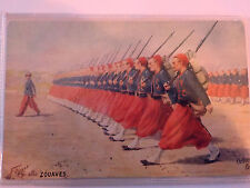 CARTOLINA POSTCARD ZOUAVES Made in Germany - militaria