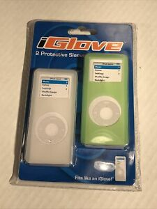 iGlove 2 Protective Sleeves for Apple iPod Nano Green & Clear/White