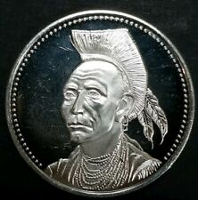 1979 Osborne Mint Gall Sioux .925 Silver Medal American Indian Leaders 1 Oz.