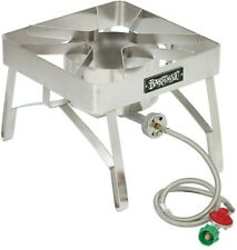 Stainless Steel Brew Cooker 16 in. Outdoor Propane Burner Beer Kettle Pot Stove