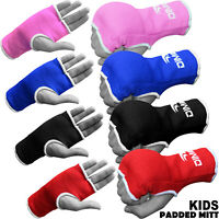 Kids Boxing Padded Gloves Hand MMA Fight Fist Protector Training Mitts One Size