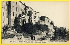 cpa Côte d'Azur SAINT PAUL (Alpes Maritimes) CHEMIN de RONDE Ed. FABRE, Epicier