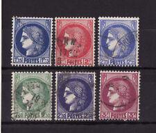 timbre France   Type  Cérès  la série    num: 372 a 376   oblitéré
