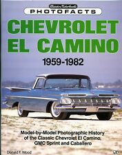 CHEVROLET EL CAMINO 1959-1982 PHOTOFACTS NEW TRUCK BOOK 1992 /  On Sale $51.88