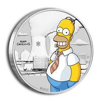 1/2 oz Silber - Tuvalu - Homer Simpson - 2020 - coloriert - Stempelglanz