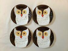 Set of 4 BARN OWL Plates