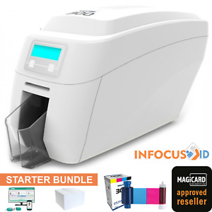 Magicard 300 Single/Dual Sided Plastic ID Card Badge Printer USB Ethernet Win10