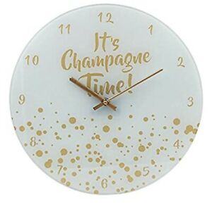 """Gold Edition Clock """"its Champagne Time"""""""