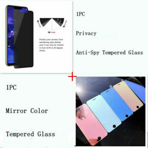 Mirror Color+Privacy Tempered Glass Screen Protector For iPhone 11 Pro Max LOT