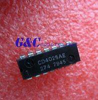10PCS CD4025AE  DIP IC RCA NEW