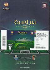 2011 Europa League Final Porto v SC Braga Programme & Ticket Excellent Condition