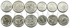 BRAZIL 6 COINS SET 1992-1994 ANIMALS UNC (#1457)