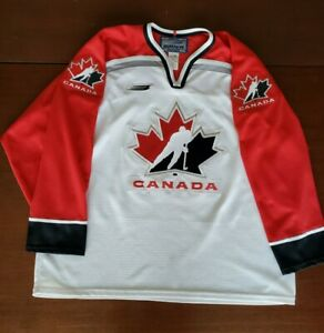 Vintage Bauer Men's Team Canada Hockey Jersey White Red Size XLarge