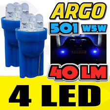 2x 501 4 LED 8500k 40 LUMENS LUZ LATERAL Ice Cool Xenon Bombillas T10 W5W 194