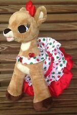Rudolph Red-Nosed Reindeer Clarice Light Up Heart Christmas Dress Build A Bear