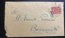1921 Cartagena Colombia Cover To Barranquilla