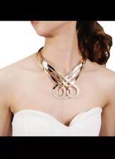 Statement Celeb Gold Super Shine Open Cuff  Choker Necklace By Rocks Boutique