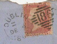 "2404 ""186 / DUBLIN"" superb strike of the IRISH Numeral Duplex cancellation 1862"
