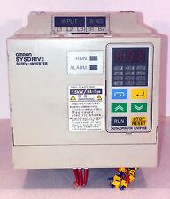 1 USED OMRON SYSDRIVE 3G3EV-A2015MA-CUE INVERTER w/ PJV0P120E PANEL *MAKE OFFER*