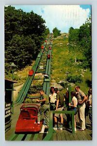 North Conway NH, Mt Cranmore Skimobile Station Chrome New Hampshire Postcard