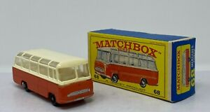 Matchbox #68 Mercedes Coach in Original Box with black wheels by Lesney