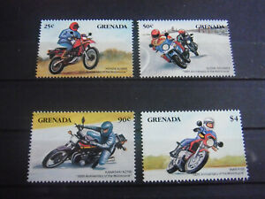 Grenada - Nice set of stamps Year 1985 MNH** Centenary of motorcycle