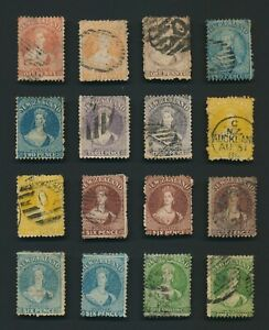 NEW ZEALAND STAMPS 1864-1871 QV CHALON HEADS, LOVELY LOT TO 1/- INC #135 MNG