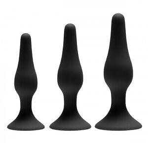 GreyGasms Apprentice Silicone Anal Sex Toy Butt Plug Trainer |3 Piece Set