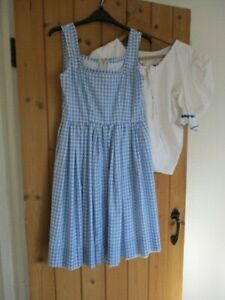 Wizard Of Oz Dorothy Theatre or Fancy Dress Costume approximate Age 9-12