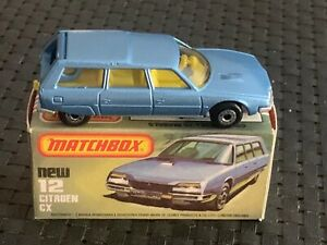 Matchbox (Lesney) #12 SF CITROEN CX, NEW w/Orig. Box Vintage 1979