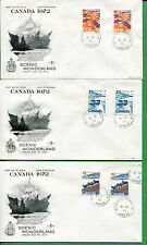 Canada First Day Covers 1972 Winnipeg Cancels Scenic Wonderland Cachets - A009