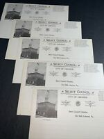 Lot Of 5 City Hall Lebanon Pennsylvania Letterhead 1908 Hunsicker President