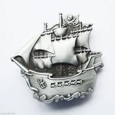 Original Pirate Ship Warship Boat Belt Buckle