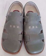 dunham women's shoes mules 7 B gray leather flats oxfords