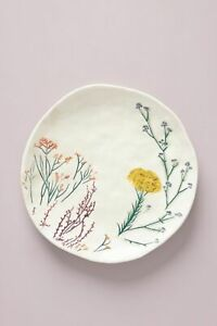 ONE Anthropologie Dagny Dessert Side Plate Floral Country Botanical Ceramic NEW