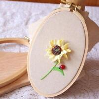 Oval Beech Cross Stitch Machine Frame Embroidery Hoop Ring Sewing Craft DIY Tool