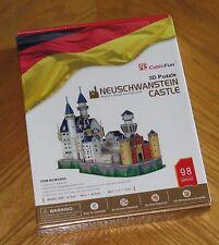 Neuschwanstein Castle Germany - CubicFun 3D Puzzle 98 Pieces - Sealed