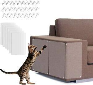 6 Stk 30x45cm Haustier Katze Kratzschutz Matte Kratzbaum Sofa Möbel Schutz Folie