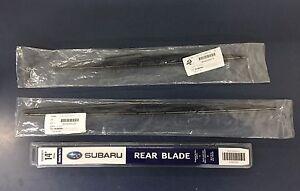 2006-2007 Subaru Tribeca B9 Front & Rear Windshield Wiper Blades Set Genuine OEM