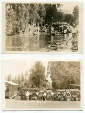 Two Different Vintage Boat Postcards: Xochimilco, Mexico City, Mexico